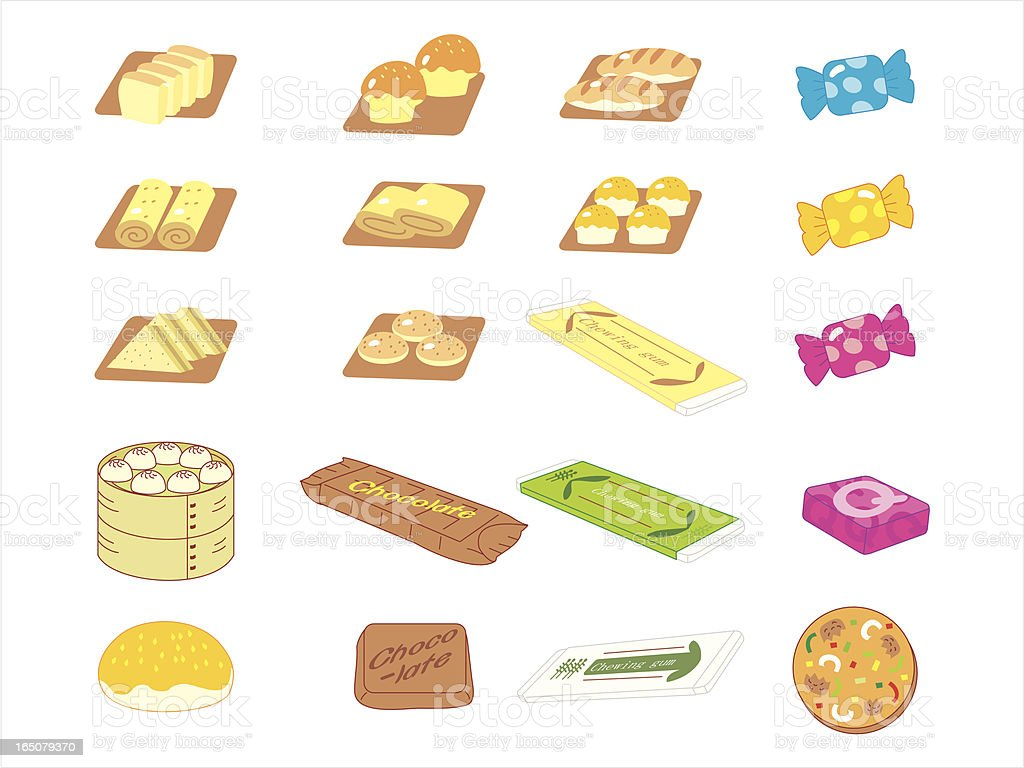 Bakery and candies royalty-free stock vector art