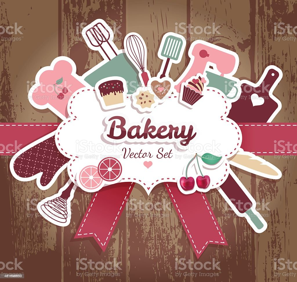 Bakery background. vector art illustration