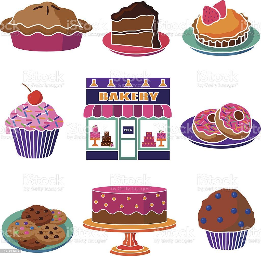 bakery goods vector art illustration