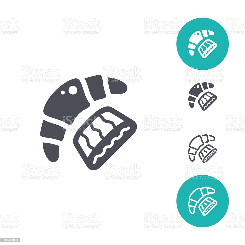Bakery icon set vector art illustration