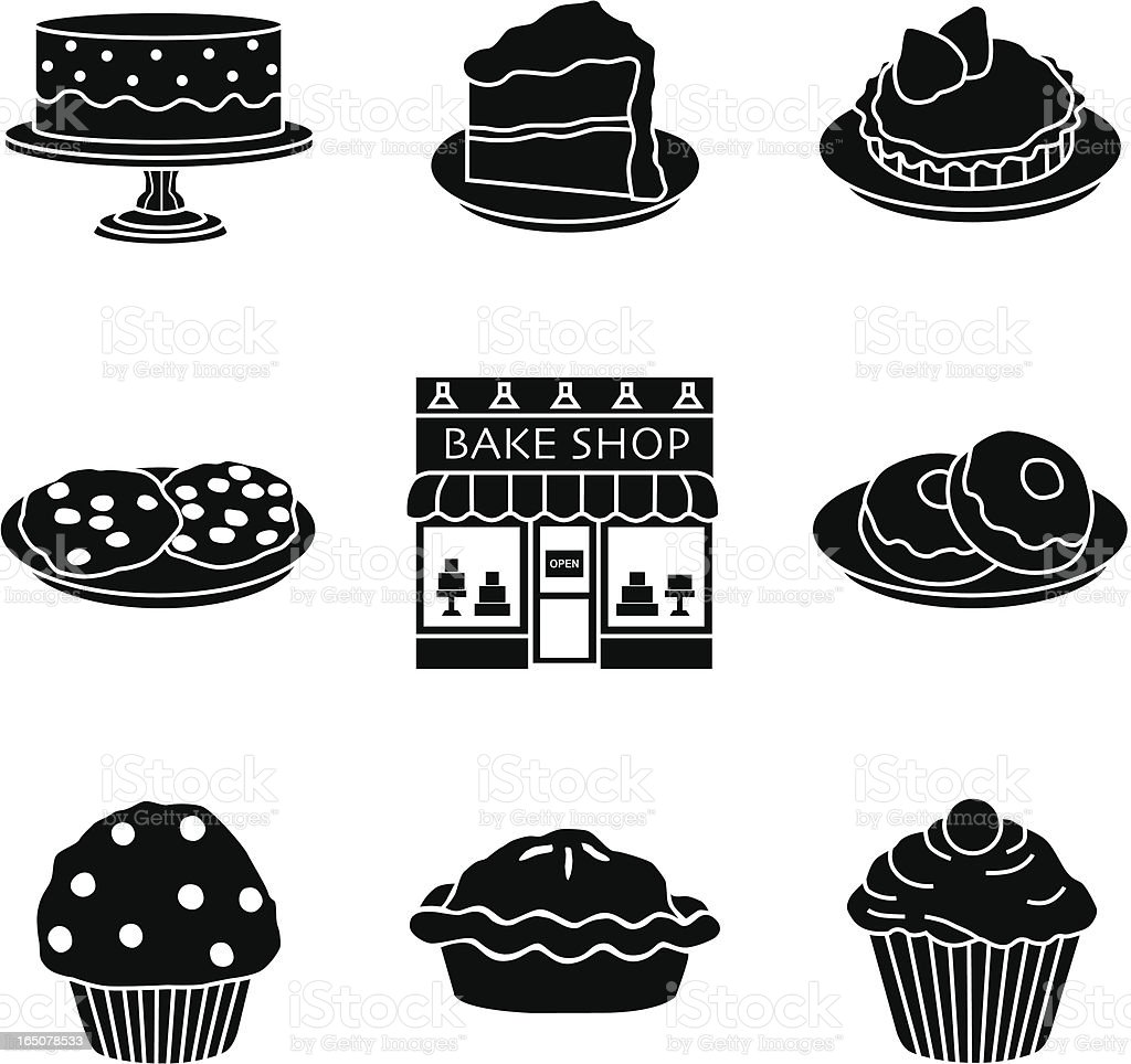bakery icons royalty-free stock vector art