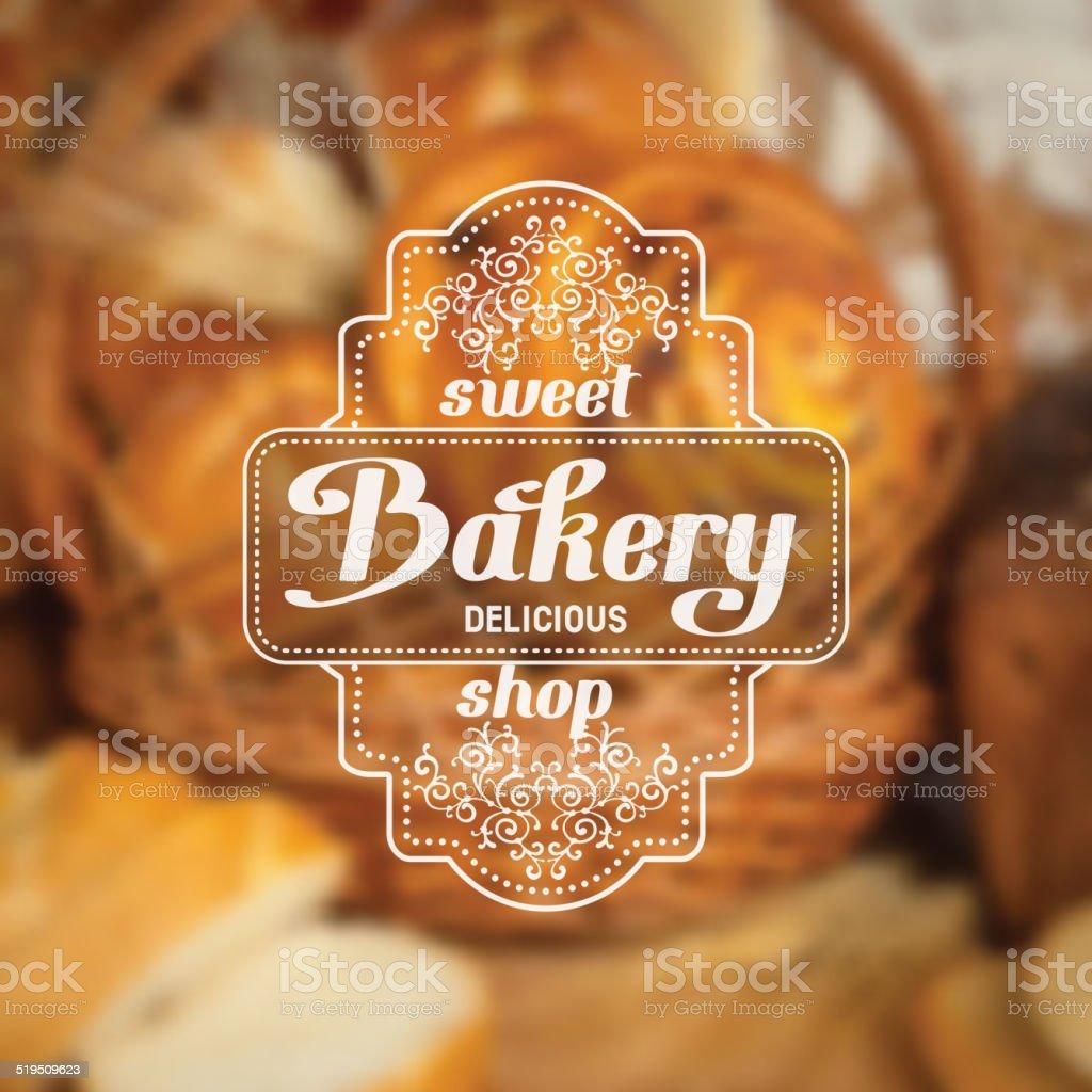 bakery label vector art illustration