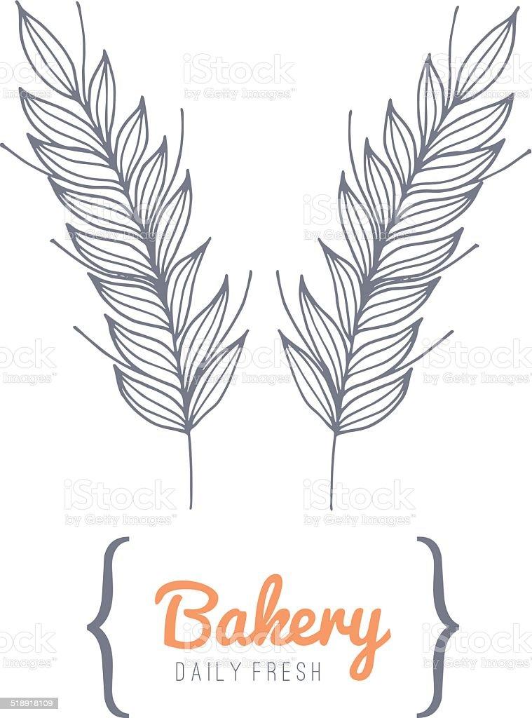 Bakery logo vector art illustration