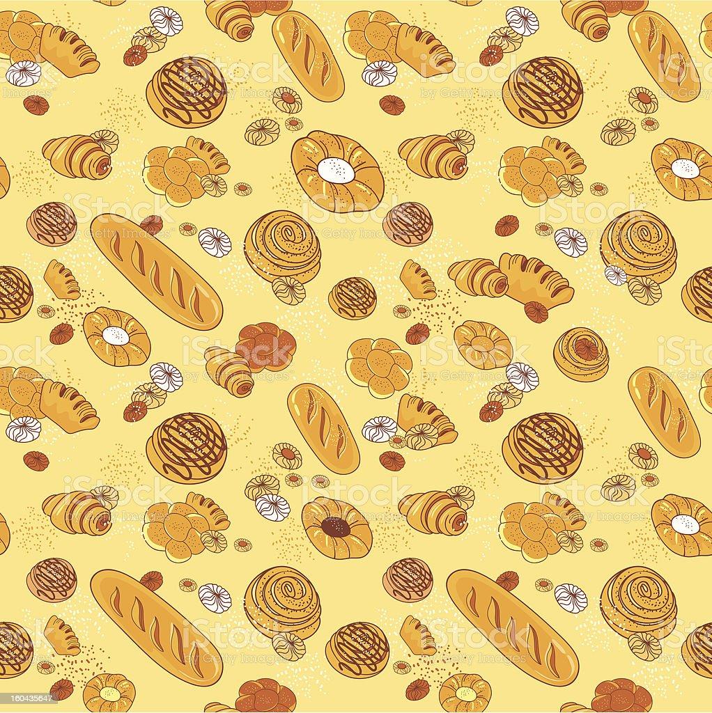 Bakery pattern royalty-free stock vector art