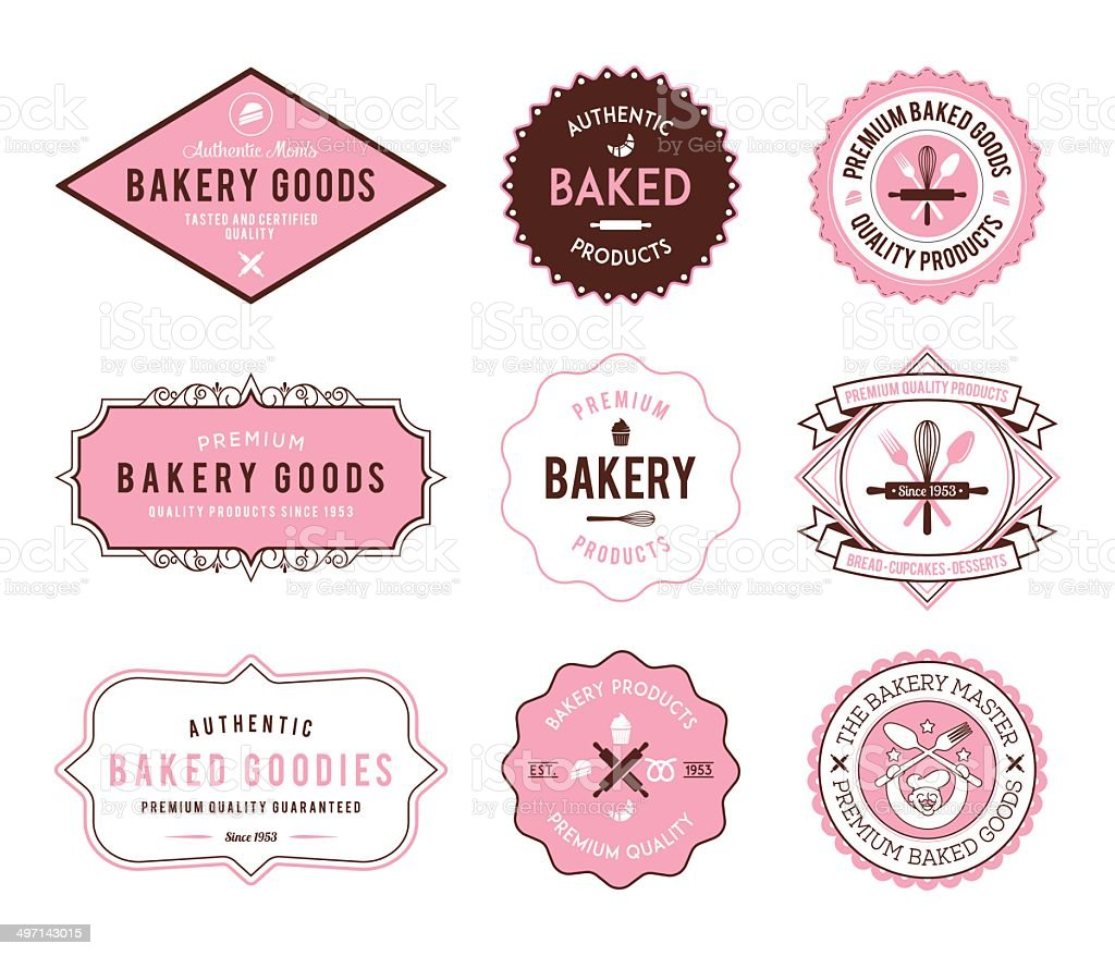 Bakery pink vector art illustration