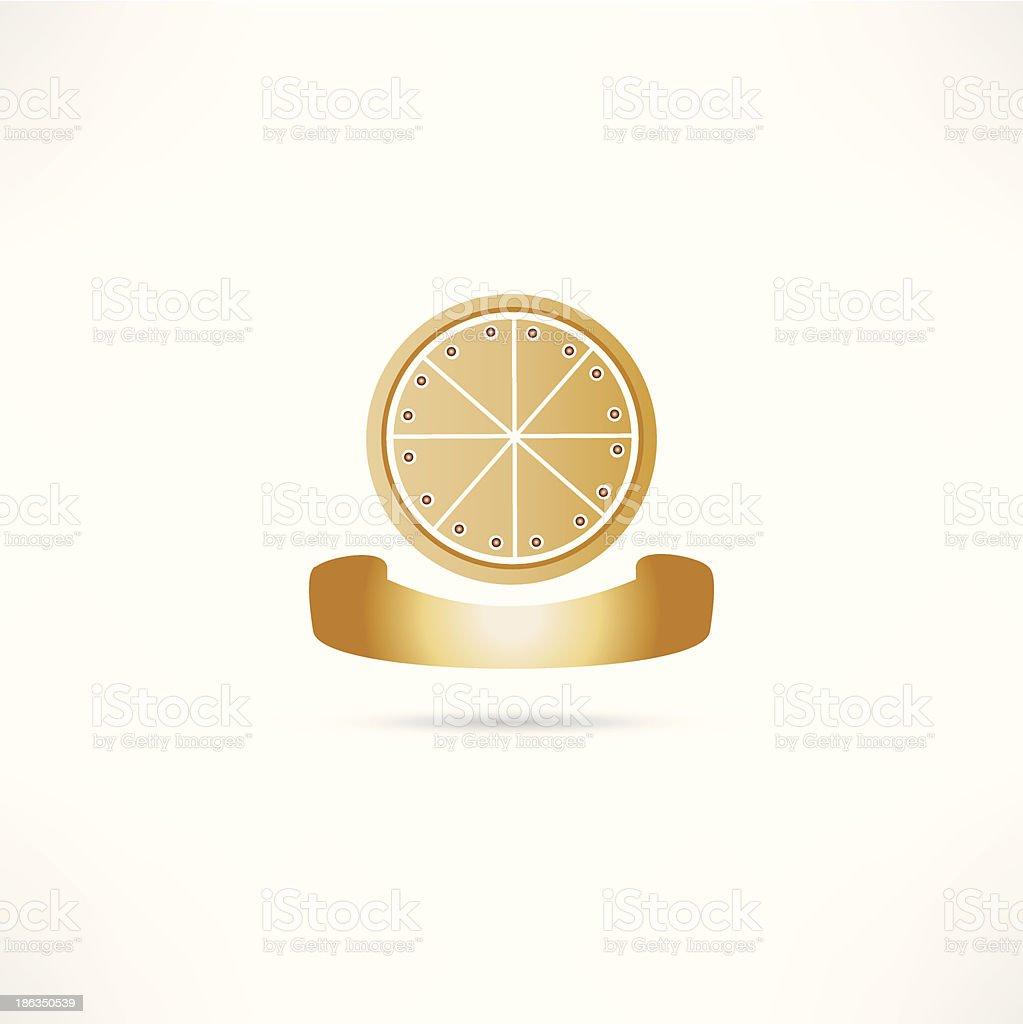 bakery pizza icon royalty-free stock vector art