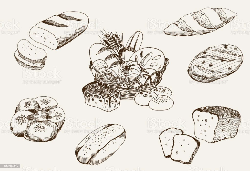 bakery products royalty-free stock vector art