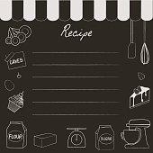bakery recipe chalkboard