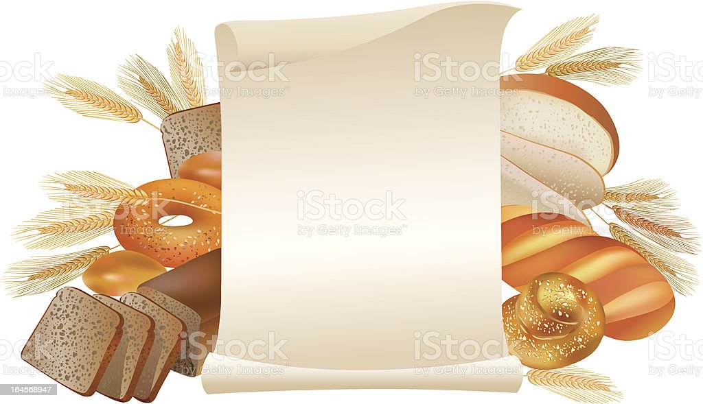 Bakery scroll royalty-free stock vector art