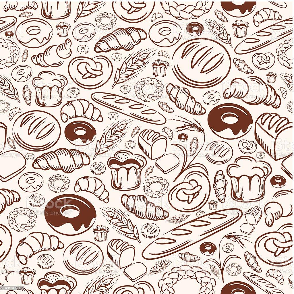Bakery Seamless Pattern royalty-free stock vector art