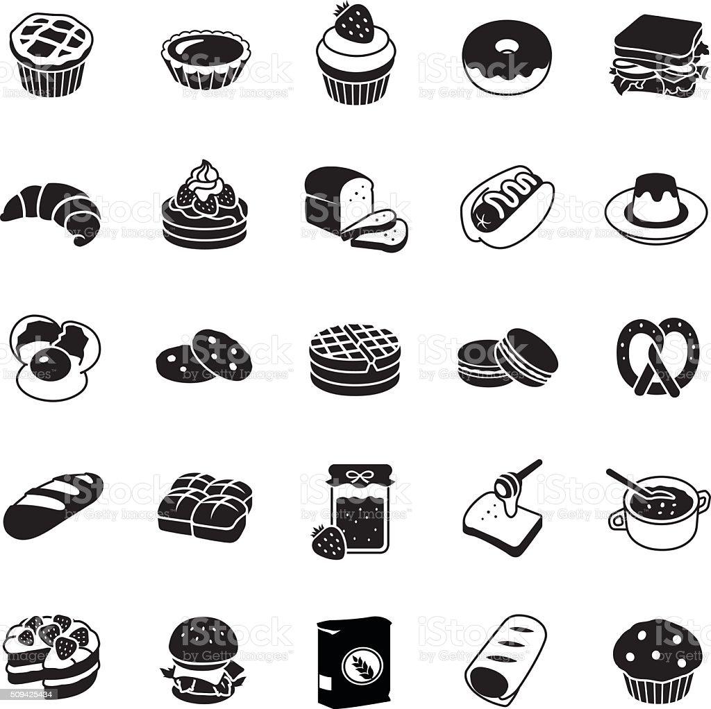 Bakery vector icons vector art illustration