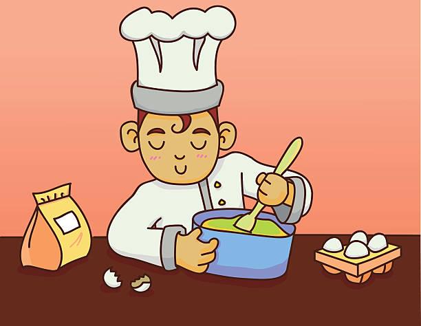 ケーキ作り イラスト素材 Istock