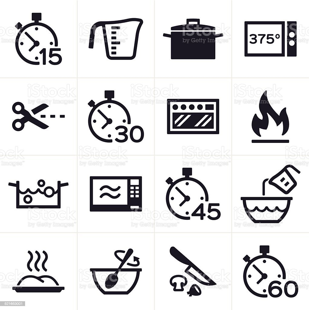 Baking and Cooking Icons vector art illustration