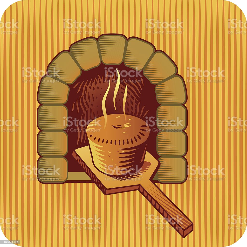 Baking bread royalty-free stock vector art