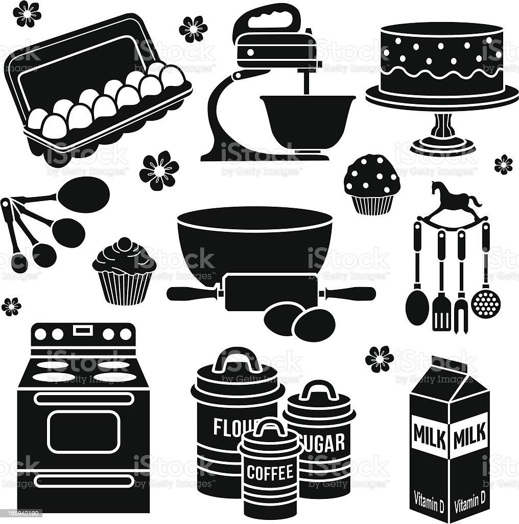 baking design elements vector art illustration