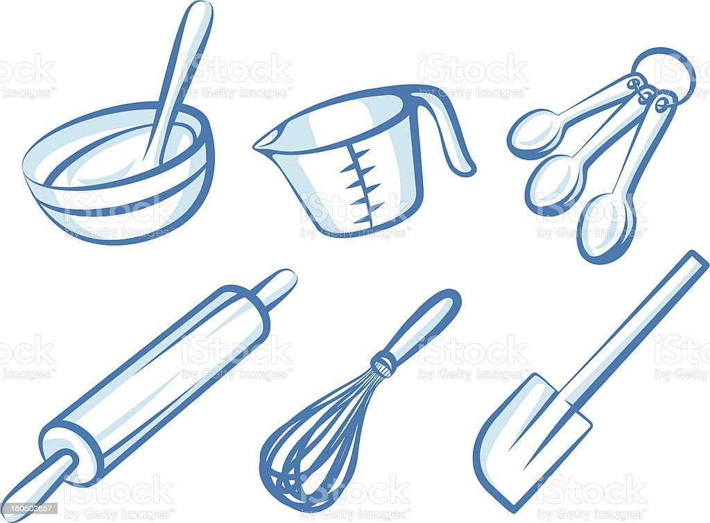 Baking Elements vector art illustration