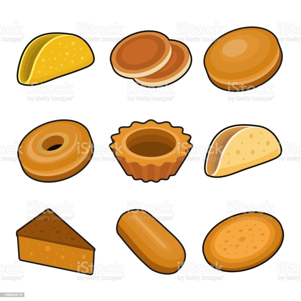 Baking icon set royalty-free stock vector art