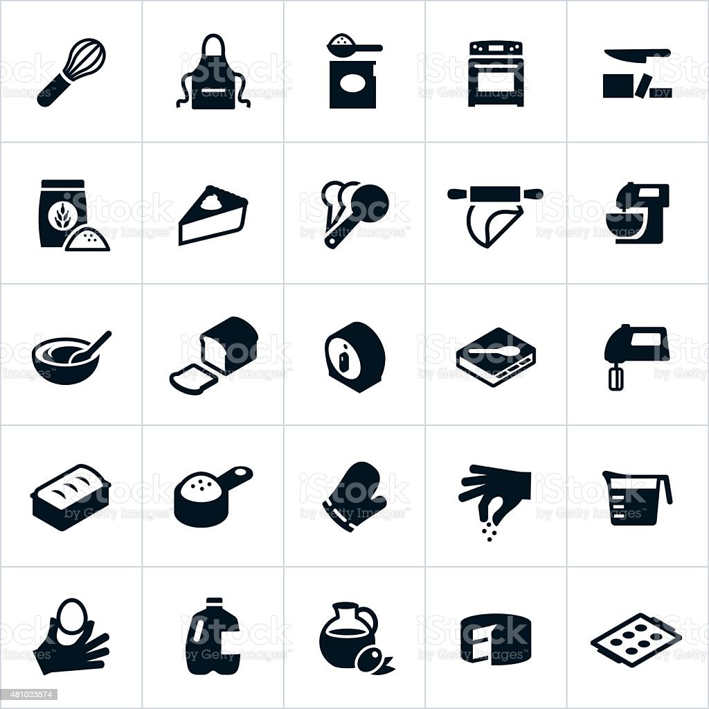Baking Icons vector art illustration
