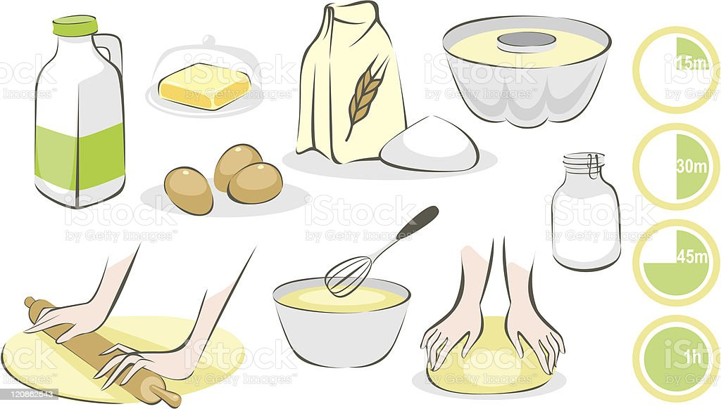 Baking set royalty-free stock vector art