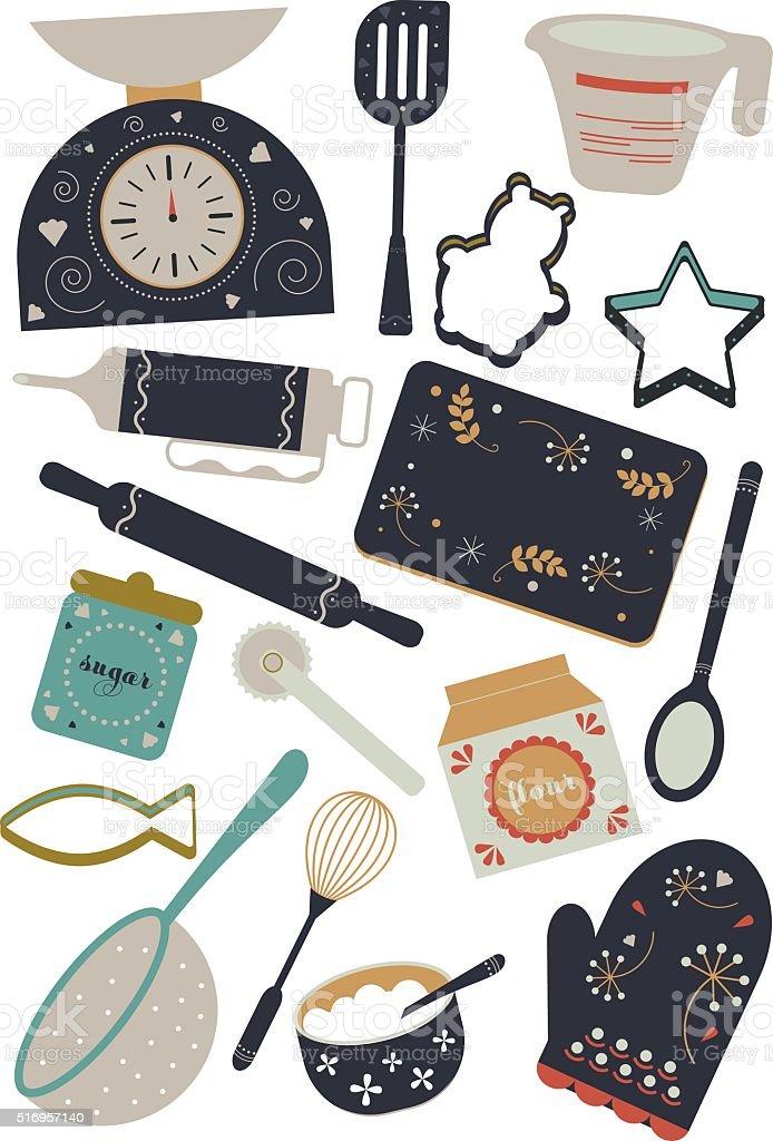 Baking set, vector illustration. vector art illustration