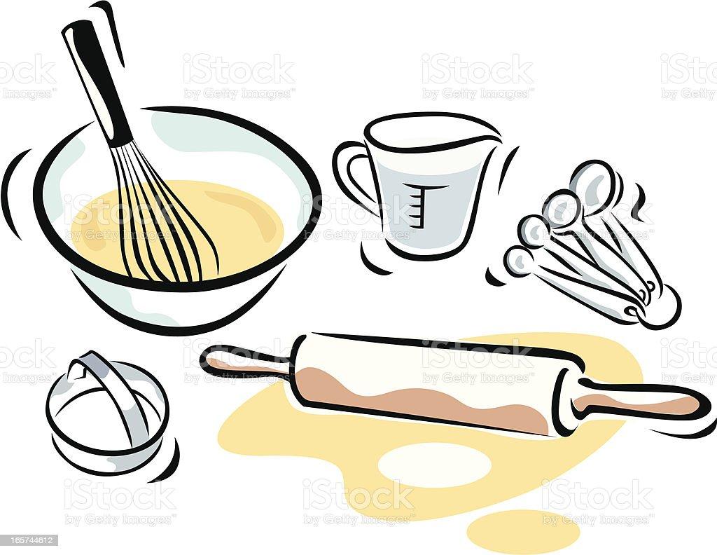 Baking Supplies vector art illustration