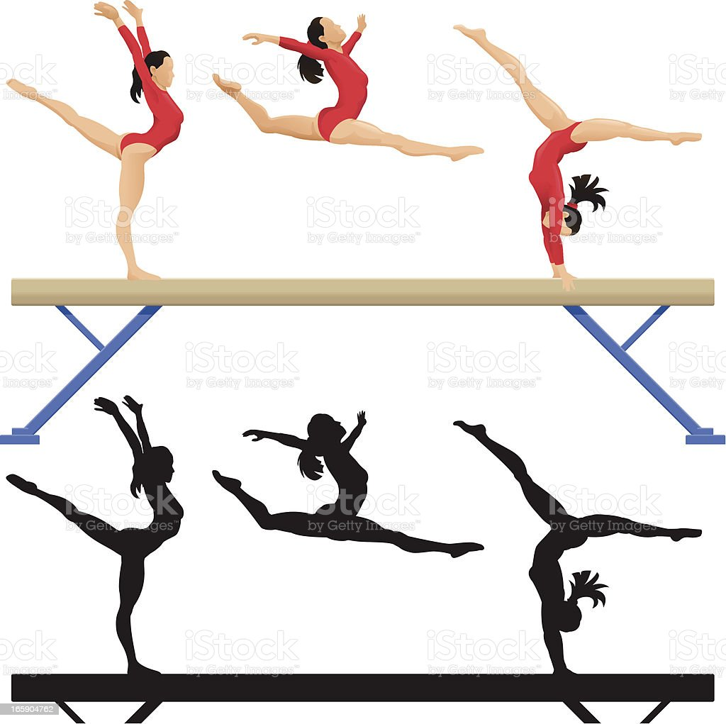Balance Beam vector art illustration