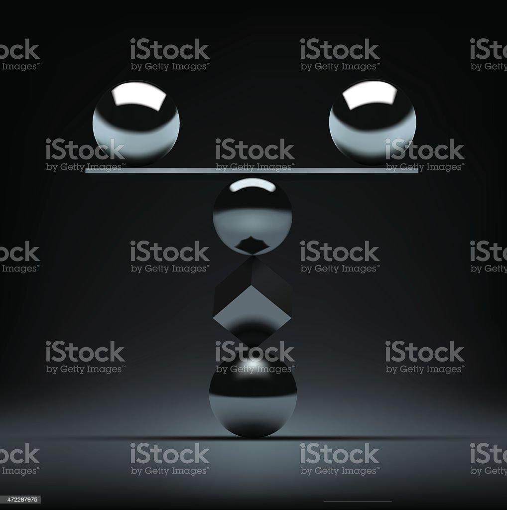 Balance Concept vector art illustration