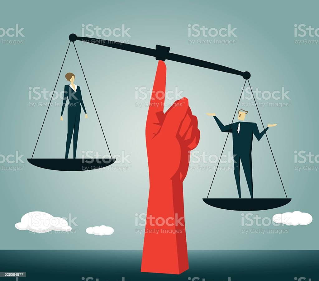 Balance, Equality,Moral Dilemma,Scales of Justice, Justice, Weight Scale vector art illustration
