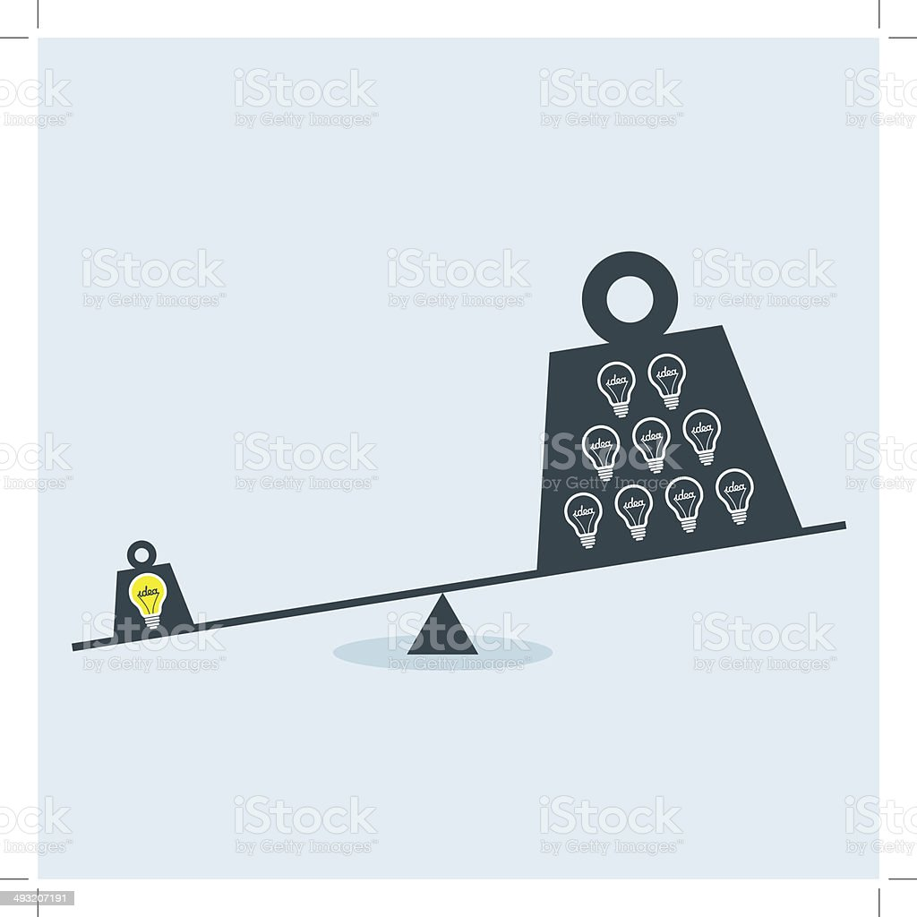 Balance Scale royalty-free stock vector art