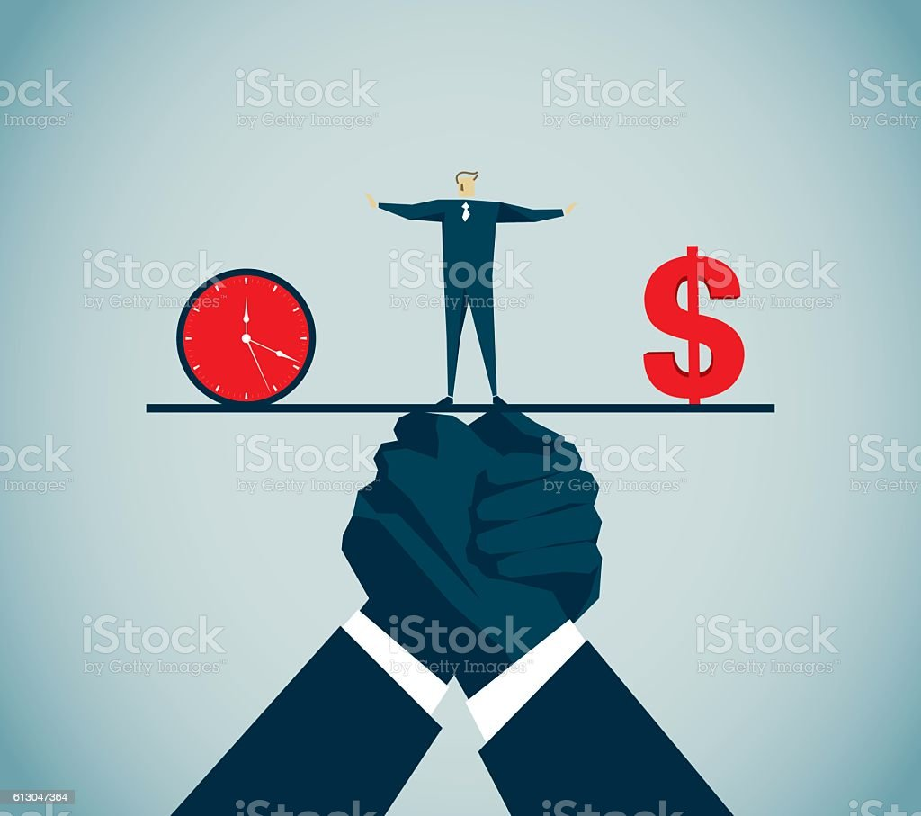 Balance vector art illustration