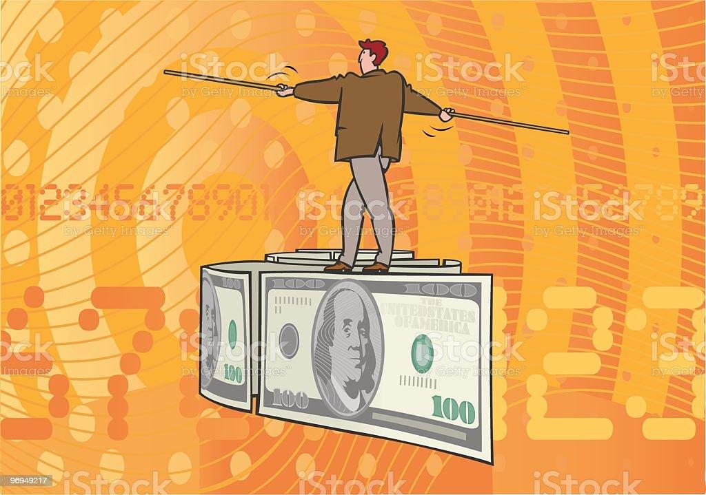 Balance_Dollar vector art illustration