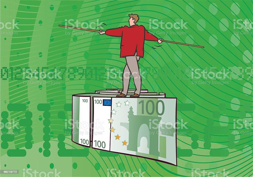 Balance_Euro vector art illustration