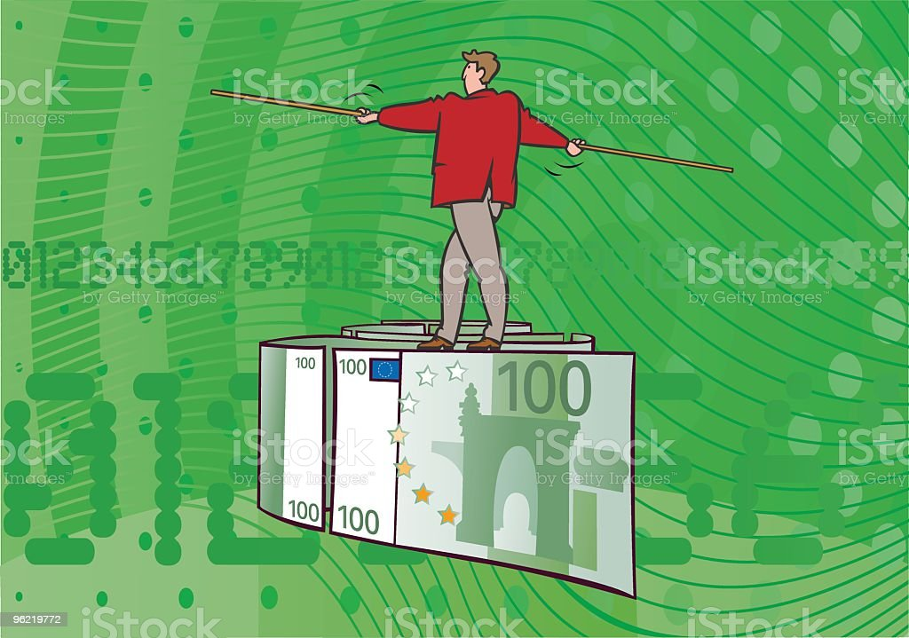 Balance_Euro vector art illustration