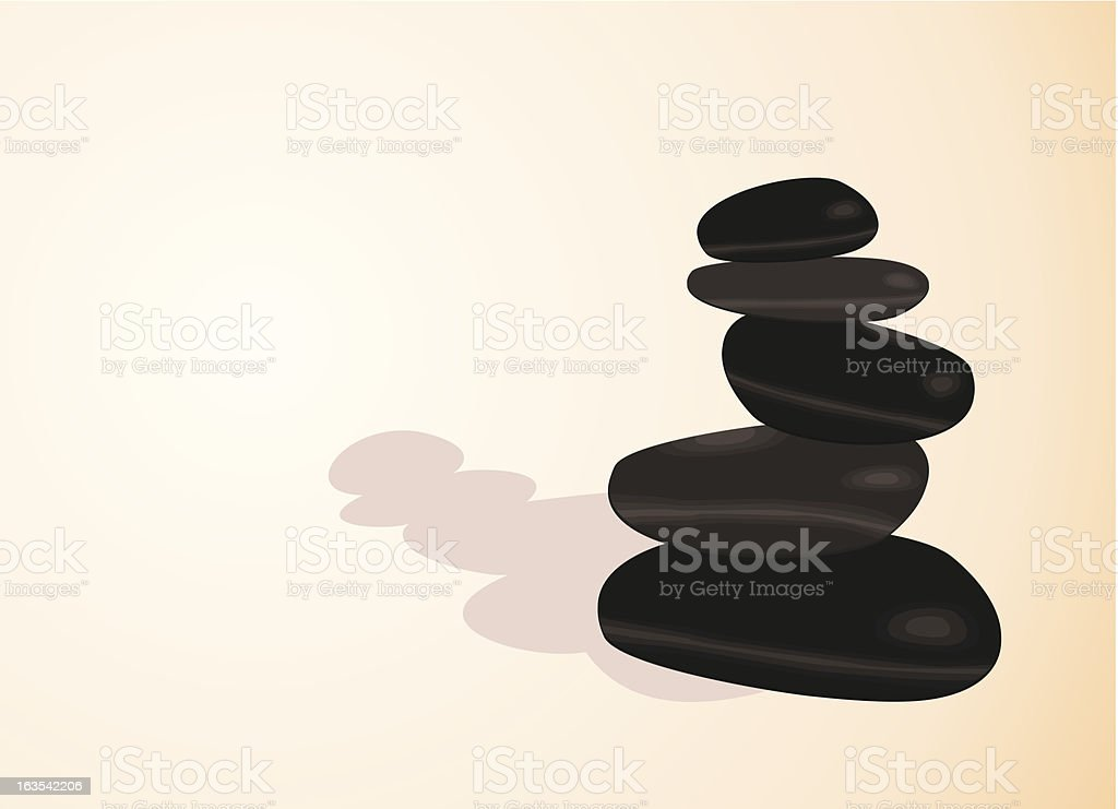 Balancing stones,  vector illustration vector art illustration