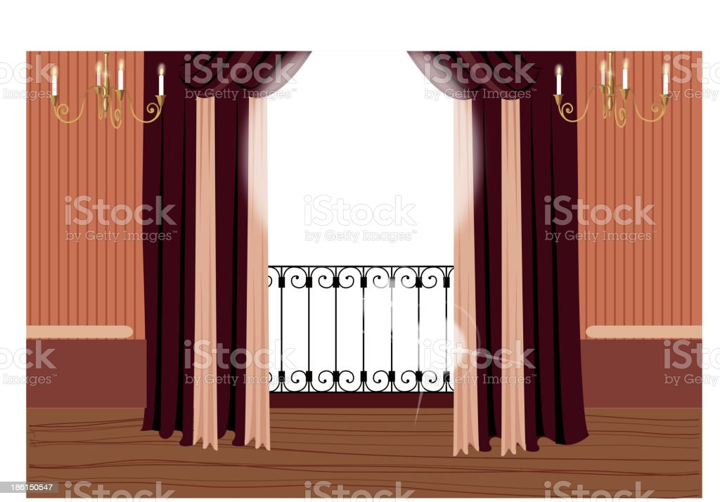 Balcony vector art illustration
