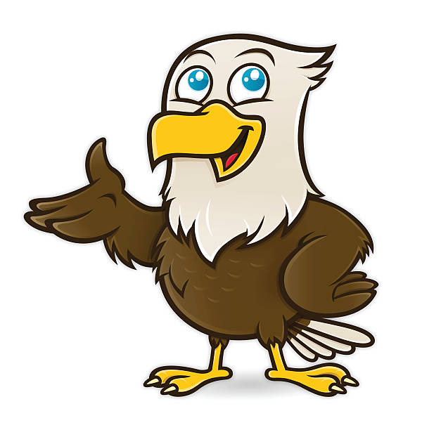 Cartoon Of American Bald Eagle Clip Art, Vector Images ...
