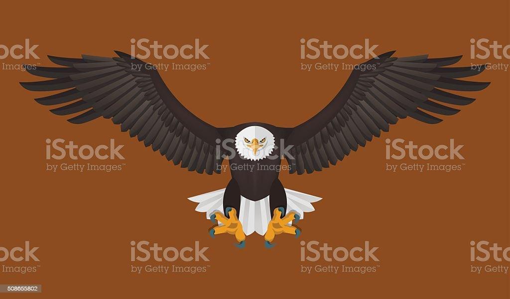 Bald Eagle flying, Vector illustration vector art illustration