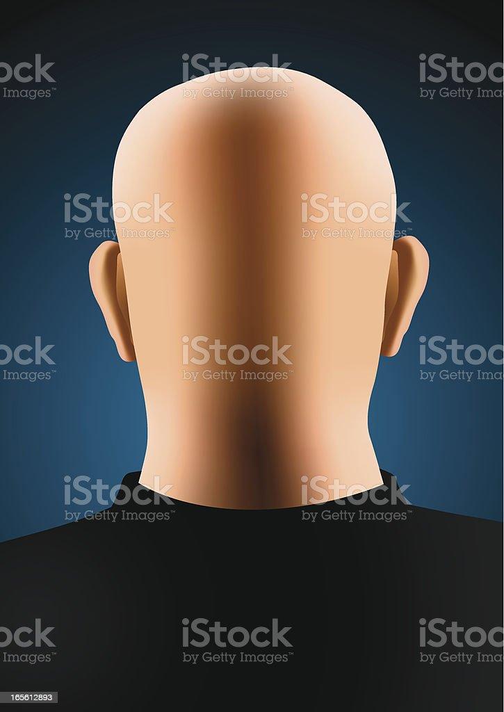 Bald man royalty-free stock vector art