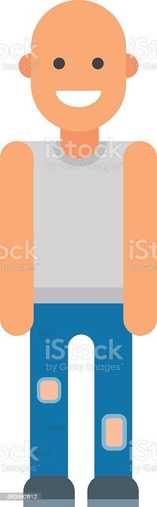 Bald man vector illustration. vector art illustration