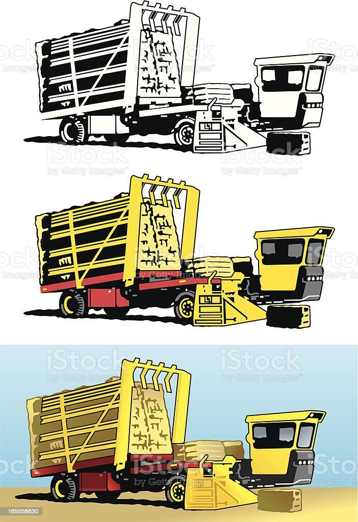 Baler Wagon vector art illustration