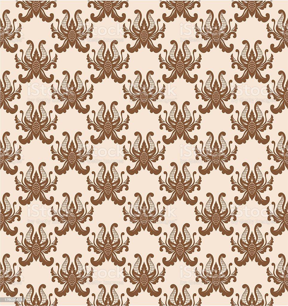 Balinese flower pattern royalty-free stock vector art