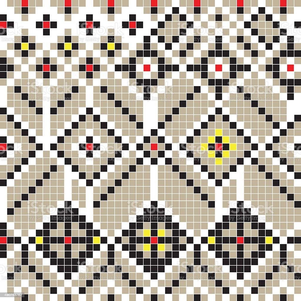 Balkan pattern vector art illustration