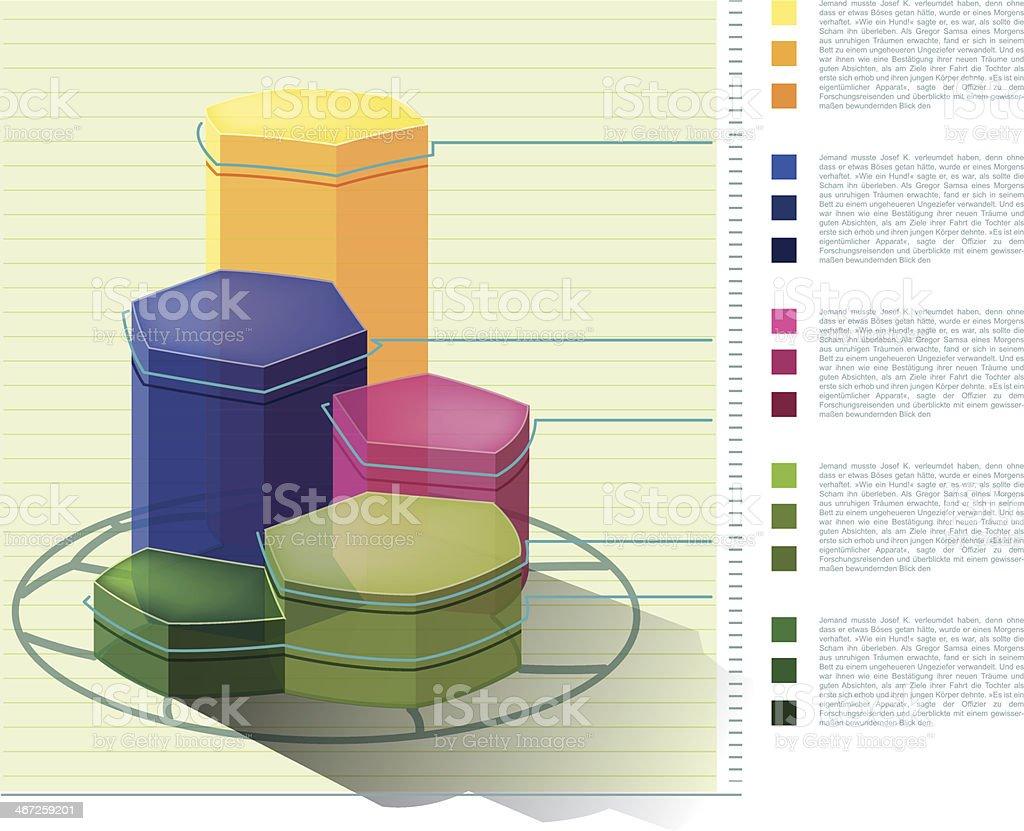 Balkendiagramm Fussball Infografik royalty-free stock vector art