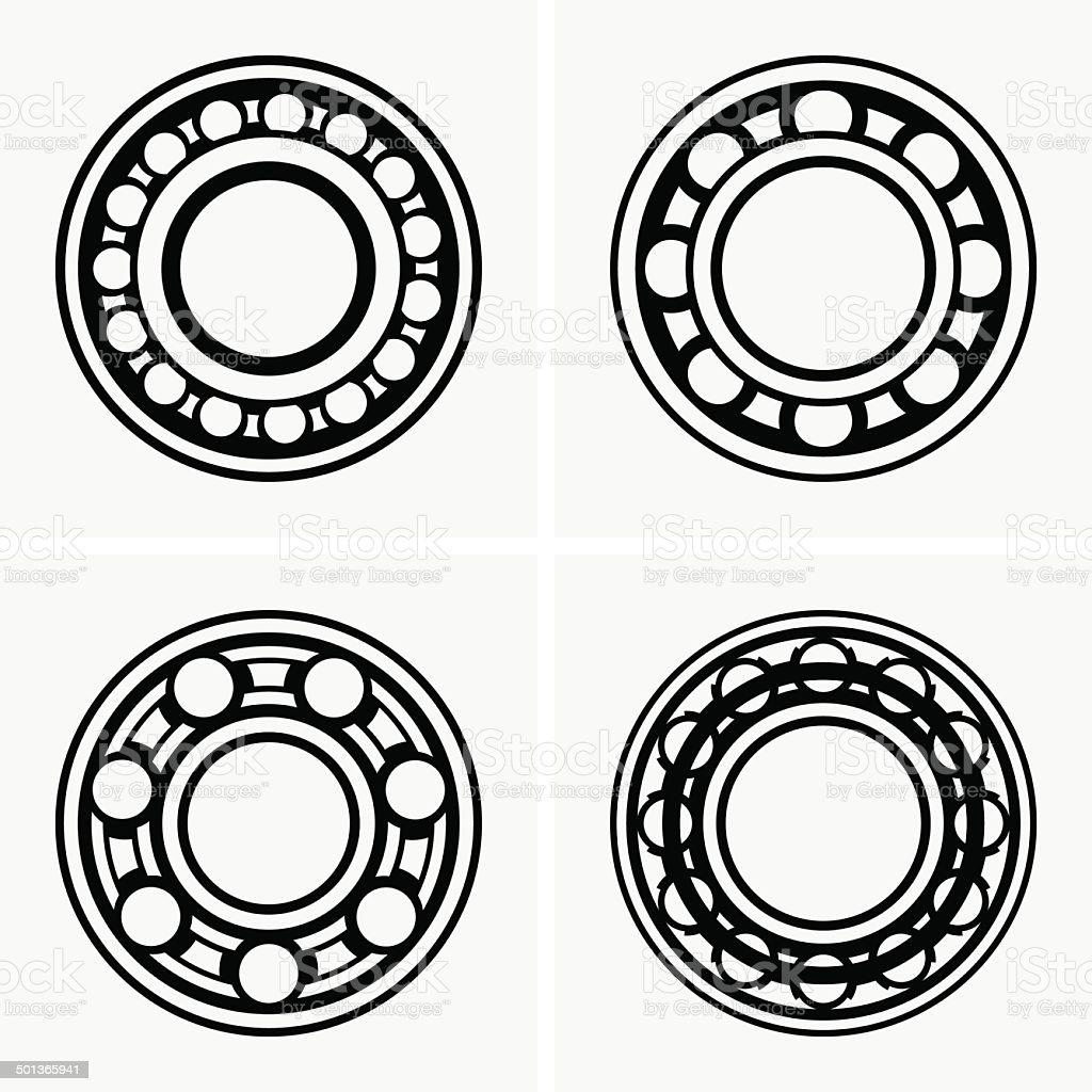 Ball bearing vector art illustration
