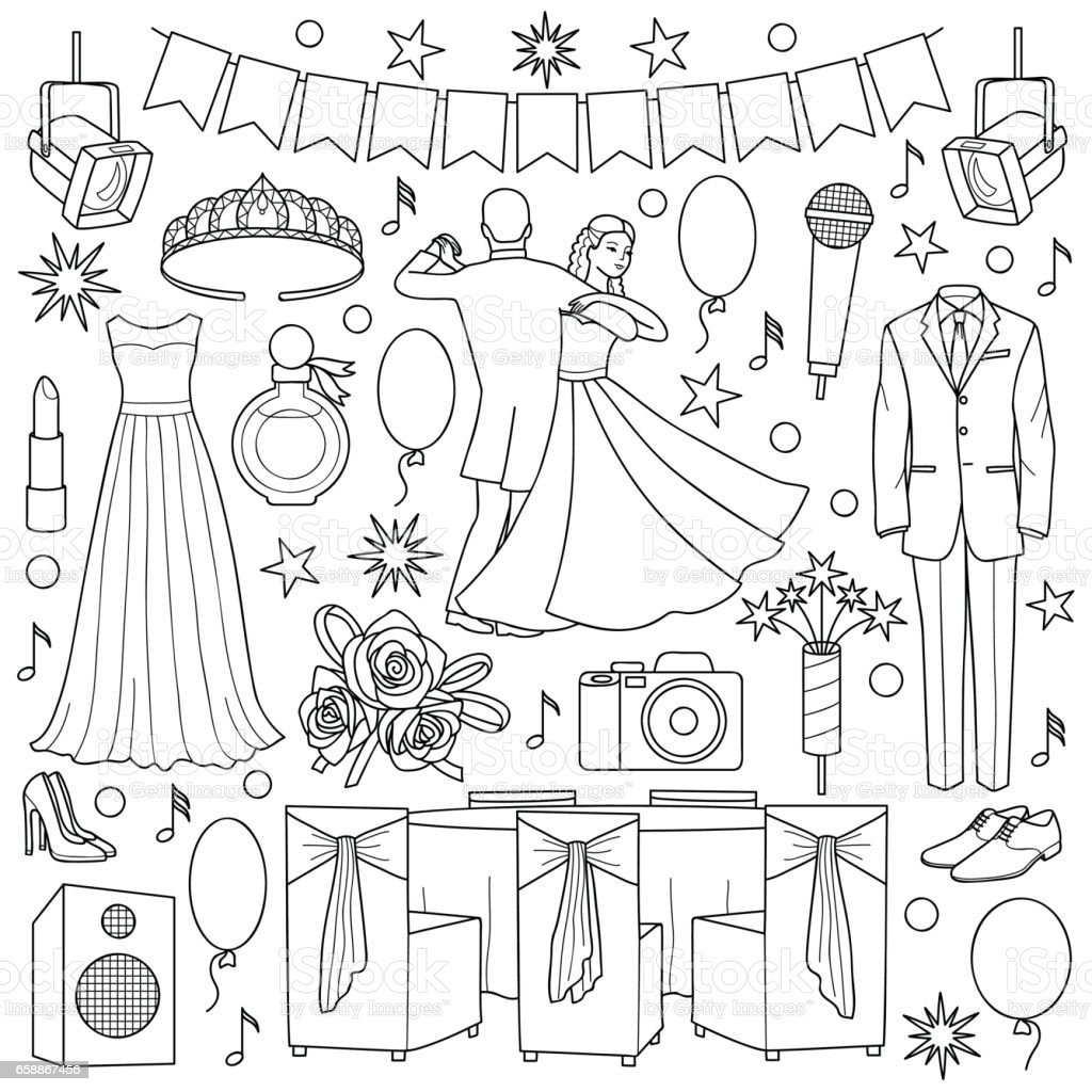 Ball Doodle Set vector art illustration