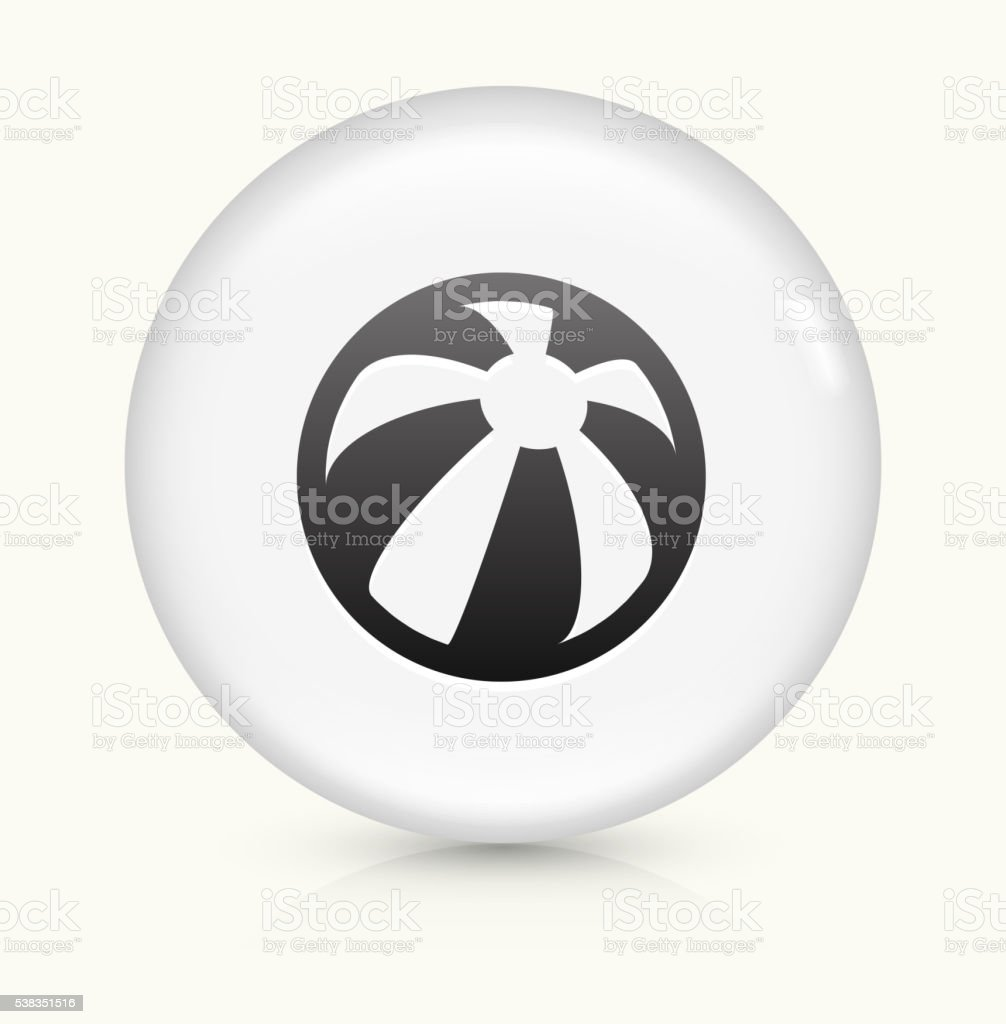 Ball icon on white round vector button vector art illustration