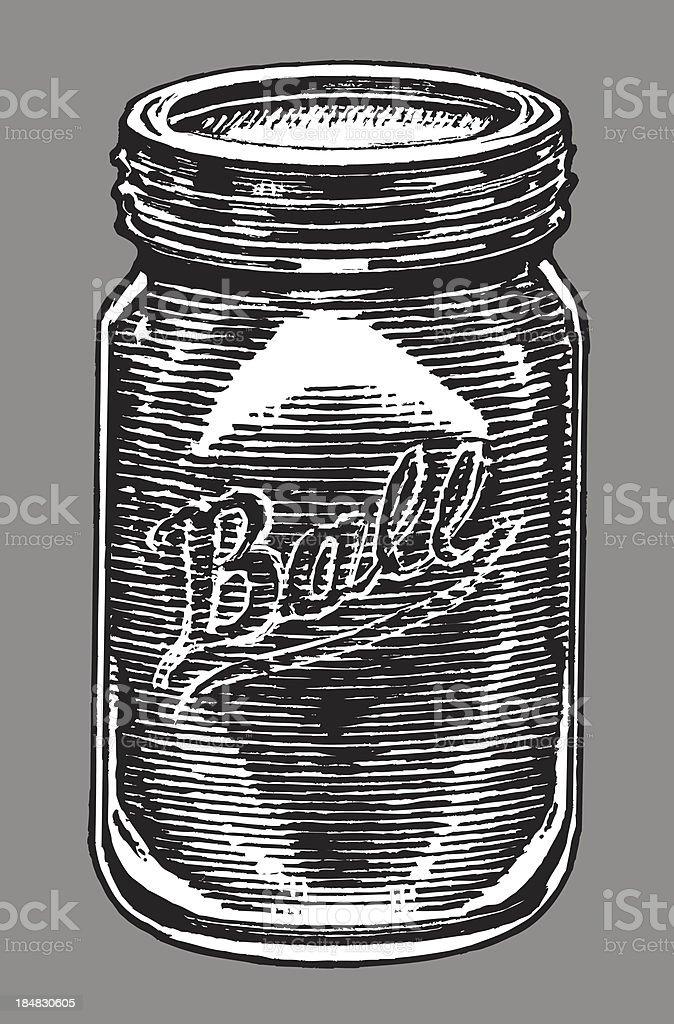 Ball Jar - Canning or Preserves vector art illustration