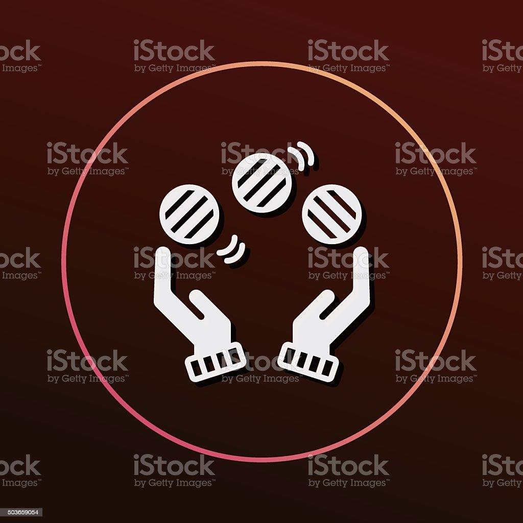 ball juggling icon vector art illustration