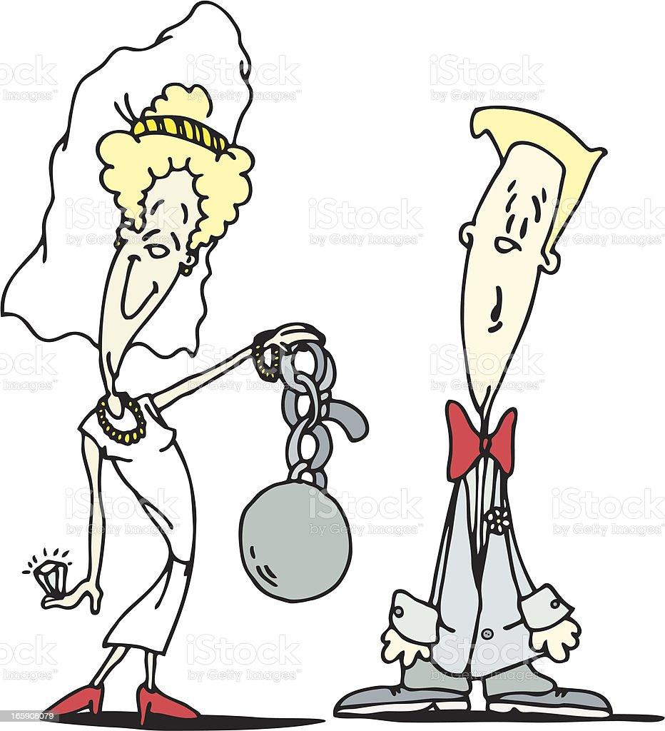 Ball 'n Chain vector art illustration