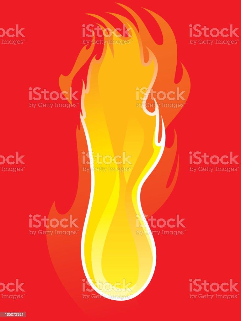 ball of fire vector art illustration